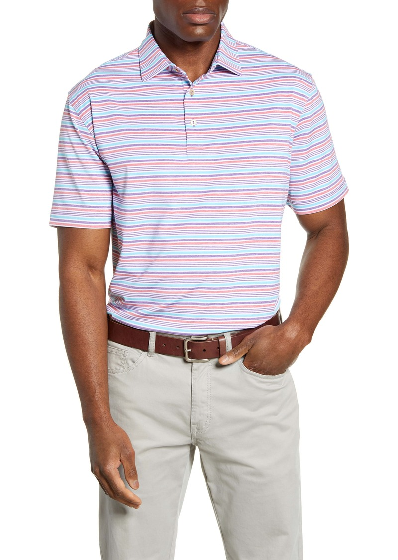 Peter Millar Agora Stripe Regular Fit Stretch Jersey Performance Polo