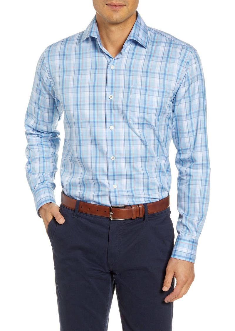 Peter Millar Avery Regular Fit Plaid Cotton & Silk Button-Up Shirt