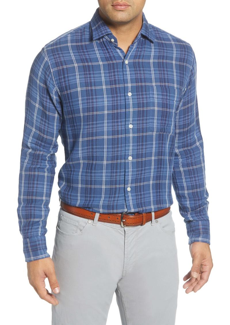 Peter Millar Beach Park Regular Fit Check Button-Up Shirt