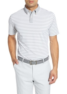 Peter Millar Bechet Regular Fit Stripe Button-Down Polo Shirt