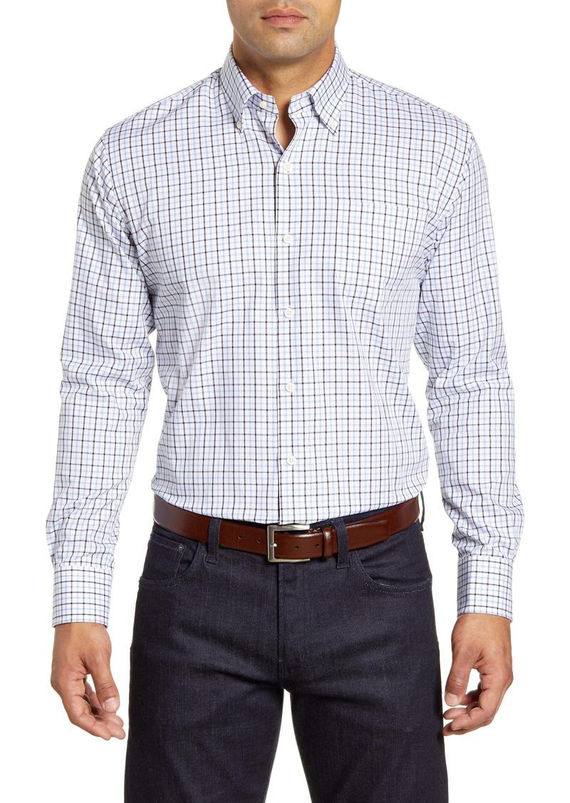 Peter Millar Bern Tattersall Button-Down Twill Shirt