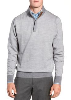 Peter Millar Birdseye Merino Wool Quarter Zip Sweater