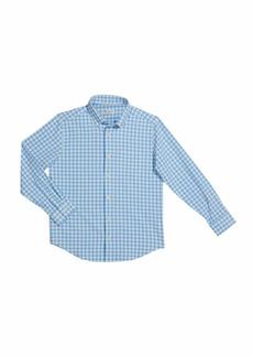 Peter Millar Boy's Crown Sport Poplin Check Performance Shirt  Size XXS-XL
