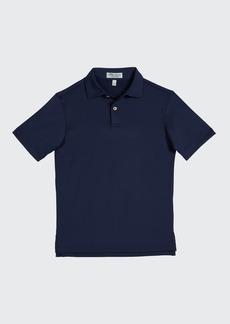 Peter Millar Boy's Solid Short-Sleeve Sport Jersey Polo Shirt  Size XXS-XL
