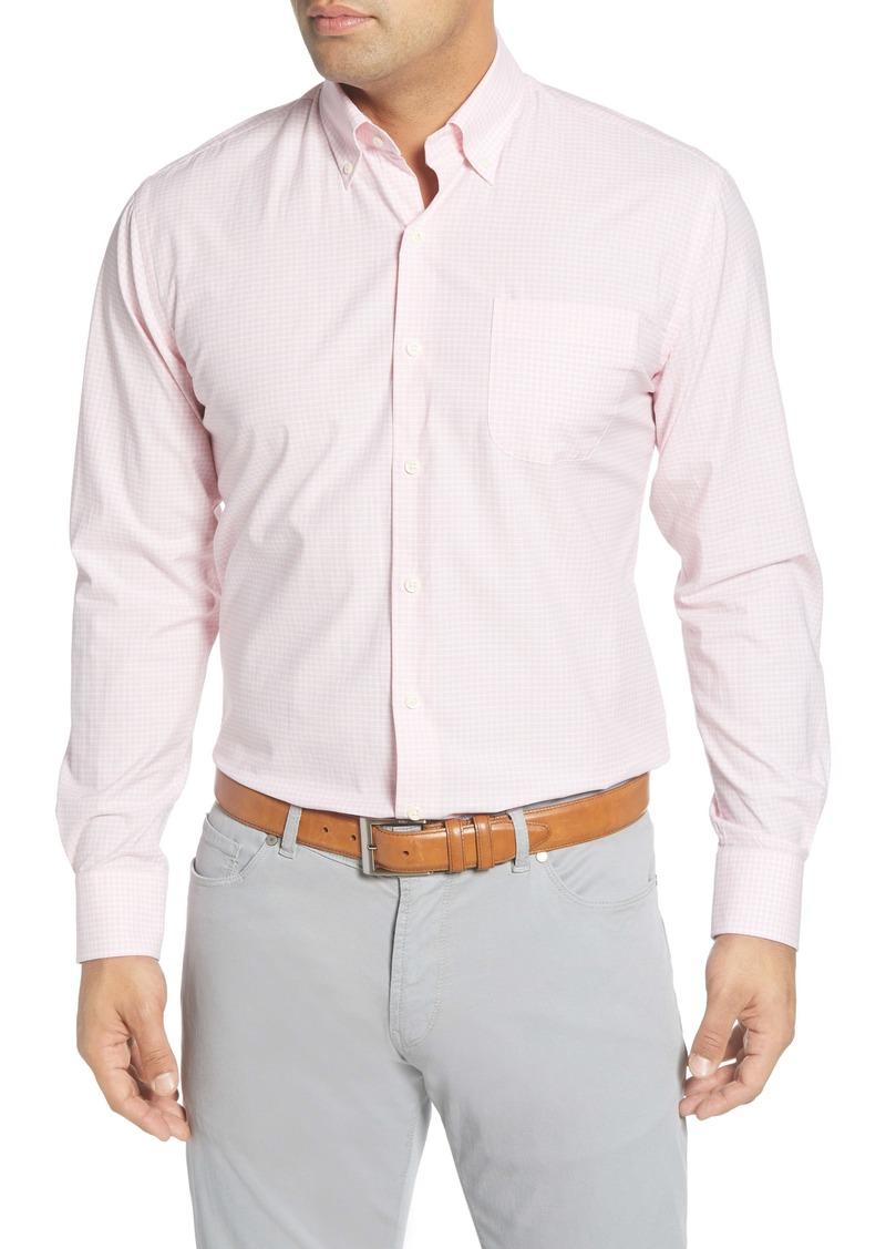 Peter Millar Brenton Regular Fit Gingham Check Button-Down Shirt