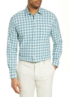 Peter Millar Brighton Grand Gingham Cotton & Silk Shirt