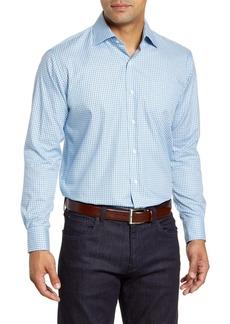 Peter Millar Cedar Island Micro Tattersall Button-Up Shirt