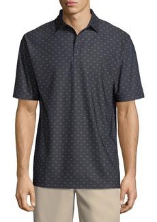 Peter Millar Chunked Black Beard-Print Polo Shirt