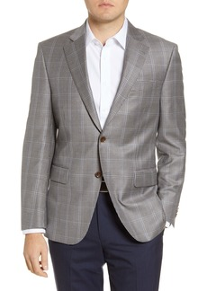 Peter Millar Classic Fit Windowpane Check Wool Sport Coat