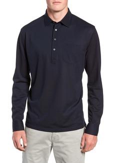 Peter Millar Collection Avon Long Sleeve Silk & Cotton Polo