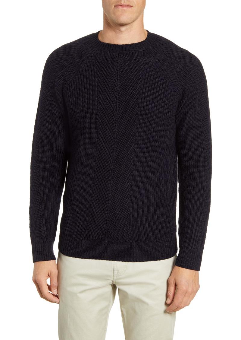 Peter Millar Collection Charlton Chevron Crewneck Wool Blend Sweater