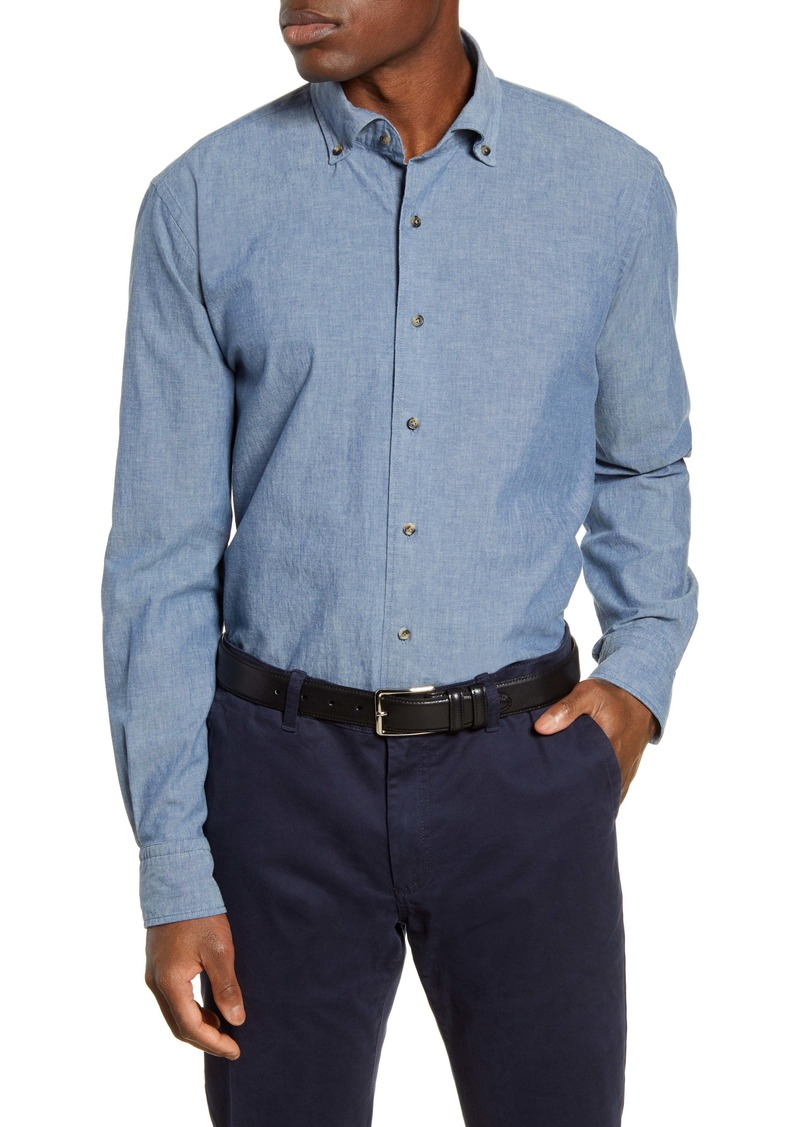Peter Millar Collection Regular Fit Chambray Button-Down Shirt