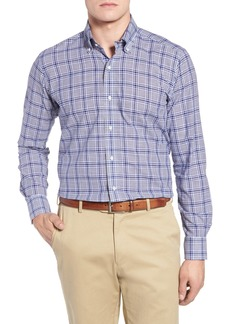 Peter Millar Collection Seabound Chambray Plaid Sport Shirt