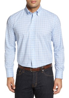 Peter Millar Collection Starry Night Tailored Fit Mélange Check Sport Shirt