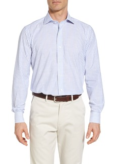 Peter Millar Collection Summer Stripe Chambray Sport Shirt