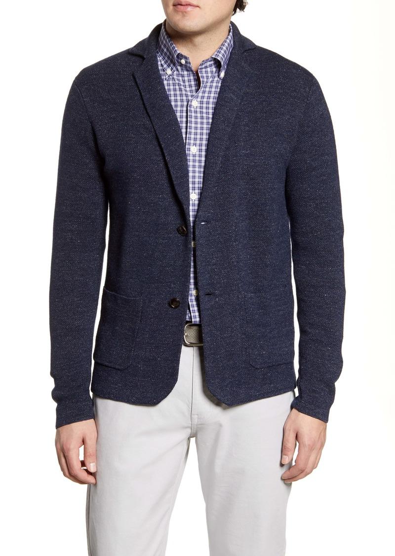 Peter Millar Concorde Linen & Wool Cardigan Sweater