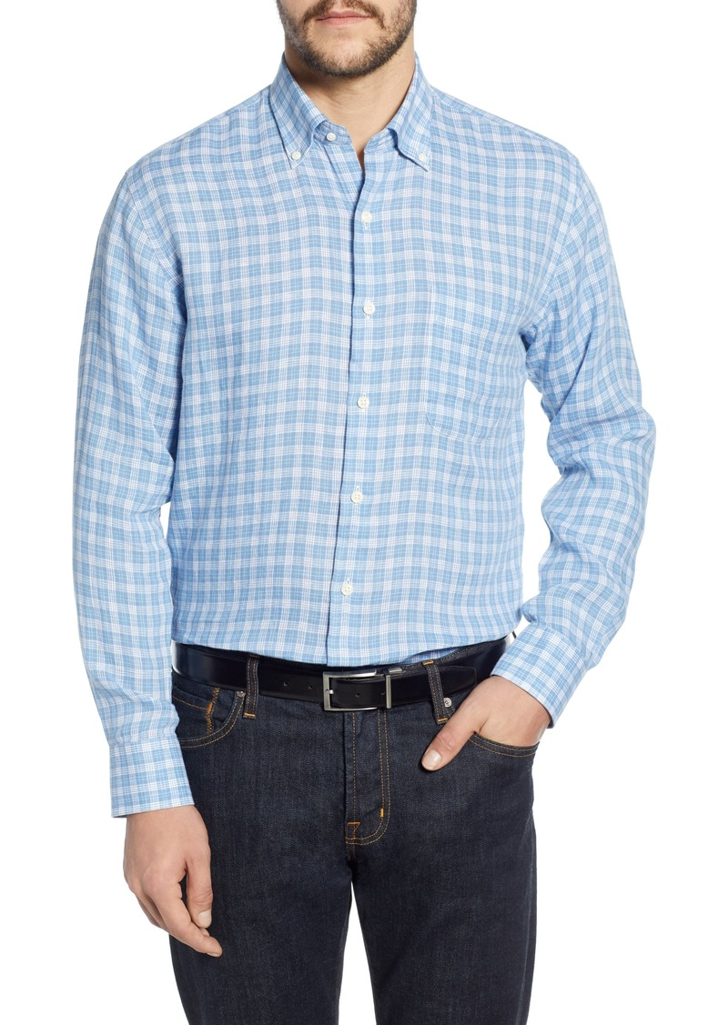 Peter Millar Cool Crown Regular Fit Check Shirt