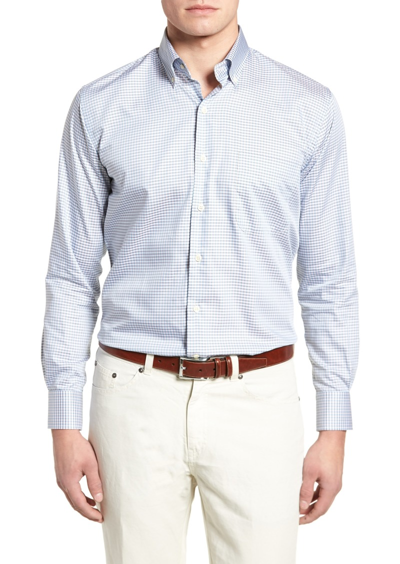 Peter Millar Crown Regular Fit Mini Check Shirt