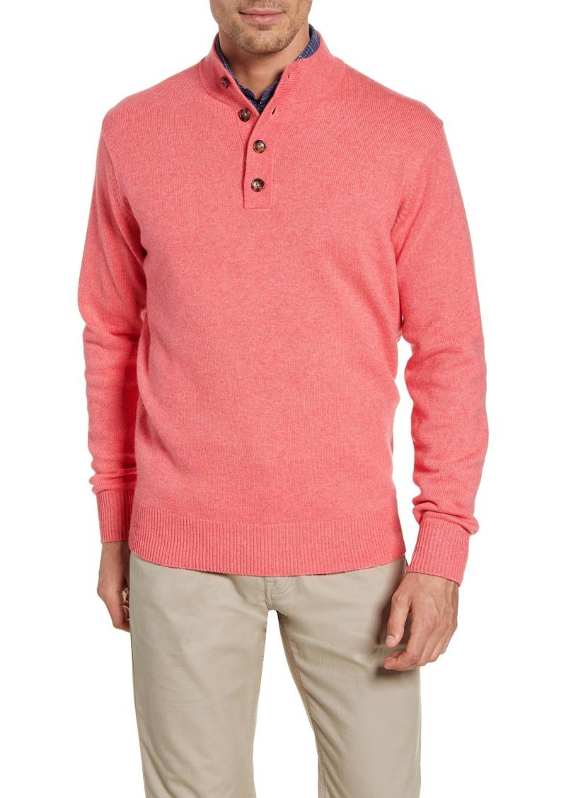 Peter Millar Crown Comfort Cashmere Mock Neck Pullover