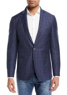 Peter Millar Crown Cool Gingham Soft Jacket