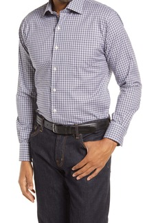Peter Millar Crown Ease Check Stretch Cotton Button-Up Shirt