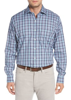 Peter Millar Crown Ease Laguna Plaid Sport Shirt