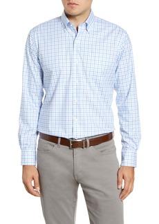 Peter Millar Crown Ease Regular Fit Tattersall Button-Down Shirt