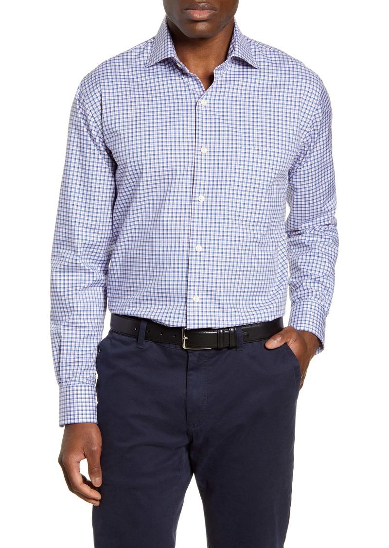 Peter Millar Crown Ease Salzburg Regular Fit Check Button-Up Stretch Cotton Shirt