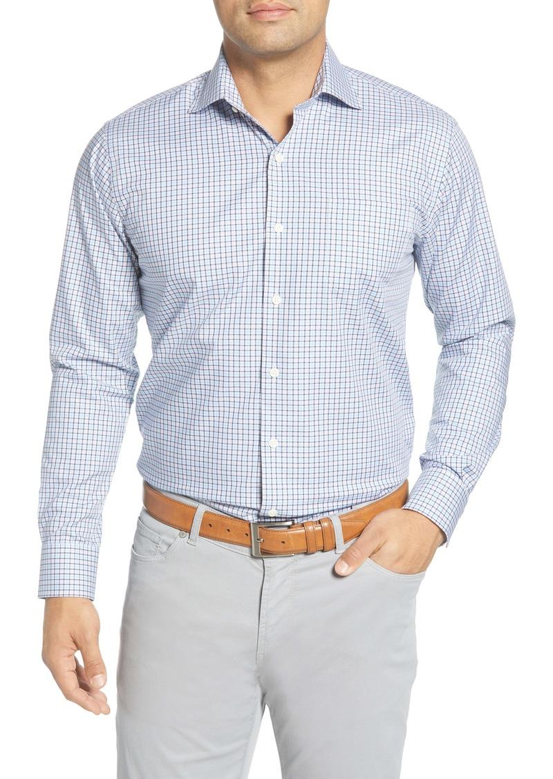 Peter Millar Crown Ease Stretch Girdwood Regular Fit Check Button-Up Shirt