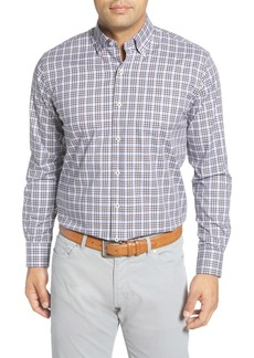 Peter Millar Crown Ease Worth Regular Fit Check Button-Down Shirt