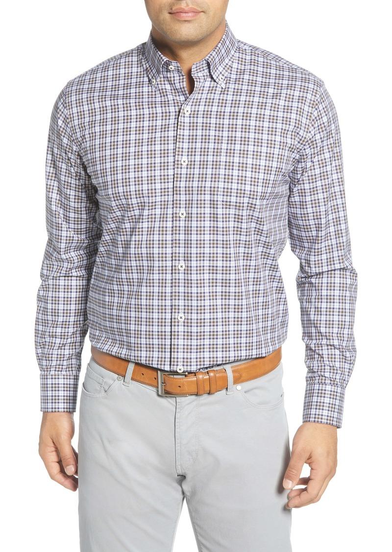 Peter Millar Crown Ease Worth Regular Fit Check Button-Down Shirt