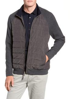 Peter Millar Crown Elite Light Down Jacket with Knit Sleeves
