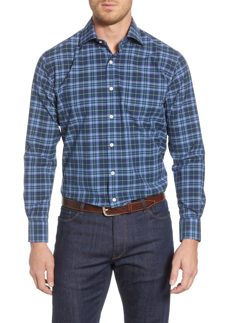 Peter Millar Crown Finish Elkhart Lake Regular Fit Tartan Button-Up Shirt
