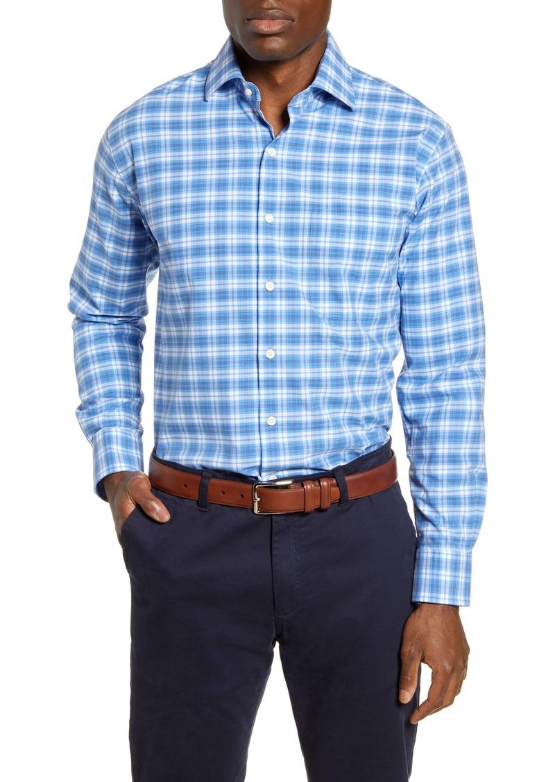 Peter Millar Crown Finish Rockland Regular Fit Plaid Button-Up Shirt