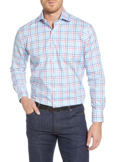 Peter Millar Crown Regular Fit Plaid Button-Up Sport Shirt