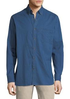 Peter Millar Crown Soft Denim Long-Sleeve Shirt
