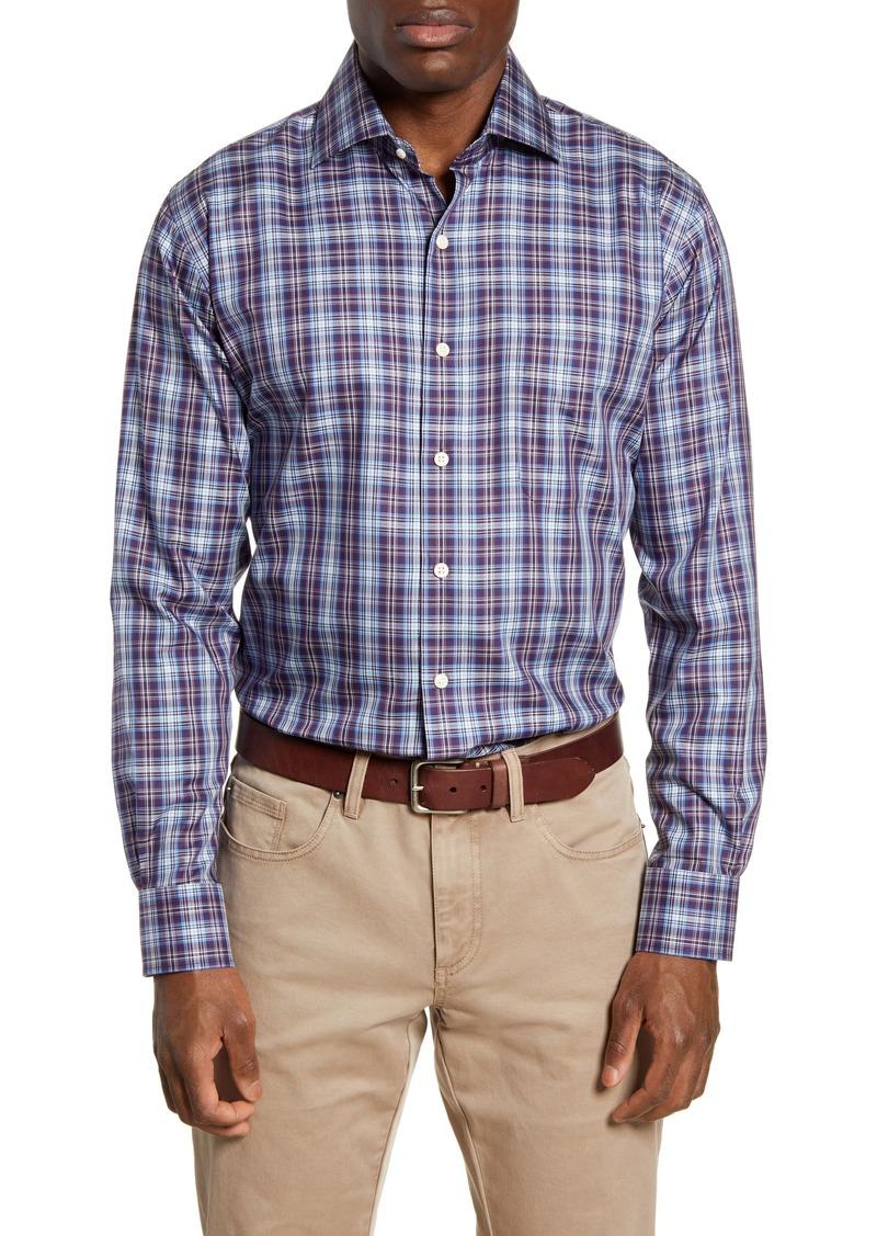 Peter Millar Crown Soft Regular Fit Crestline Plaid Button-Up Shirt