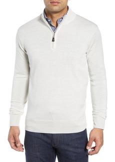 Peter Millar Crown Soft Regular Fit Wool Blend Quarter Zip Sweater