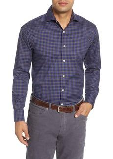 Peter Millar Crown Soft Tahoe Regular Fit Check Button-Up Shirt