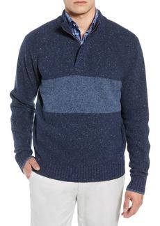 Peter Millar Crown Vintage Panel Regular Fit Merino Wool Blend Quarter Zip Sweater