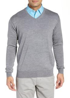 Peter Millar Crown Wool & Silk V-Neck Sweater