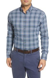 Peter Millar Douglas Regular Fit Check Performance Flannel Button-Down Shirt
