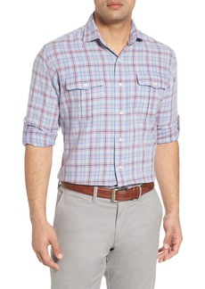 Peter Millar Emerald Isle Regular Fit Plaid Sport Shirt