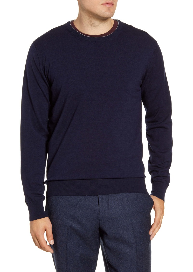 Peter Millar Excursionist Flex Crewneck Wool Blend Sweater