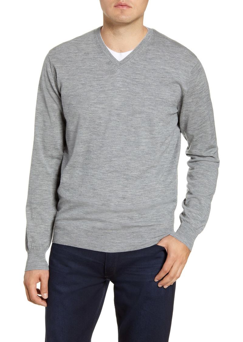 Peter Millar Excursionist Flex V-Neck Wool Blend Sweater