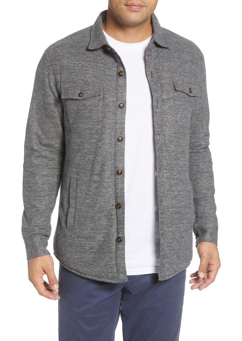 Peter Millar Fiona Heathered Button-Up Knit Shirt Jacket