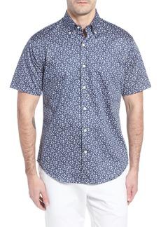 Peter Millar Fly Like Paper Print Sport Shirt