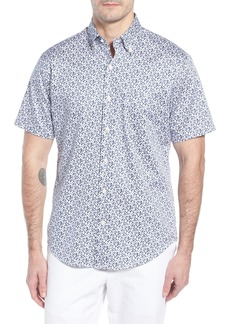 Peter Millar Fly Like Paper Print Sport Shirt