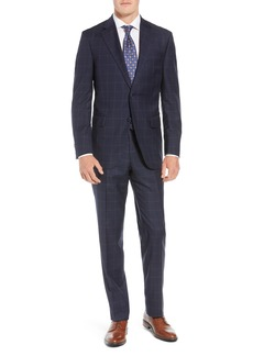 Peter Millar Flynn Classic Fit Windowpane Wool Suit
