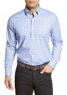 Peter Millar Garrett Regular Fit Check Print Button-Down Shirt